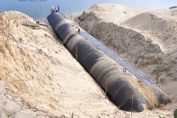 Thi công ống địa Geotube