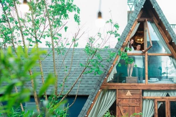 Mái ngói bitum được dùng trong xây dựng homestay và bungalow